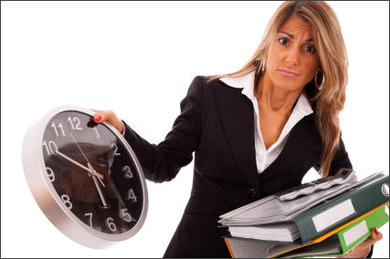 Busy managers need to delegate as there is unlikely to be enough time to fit everything in